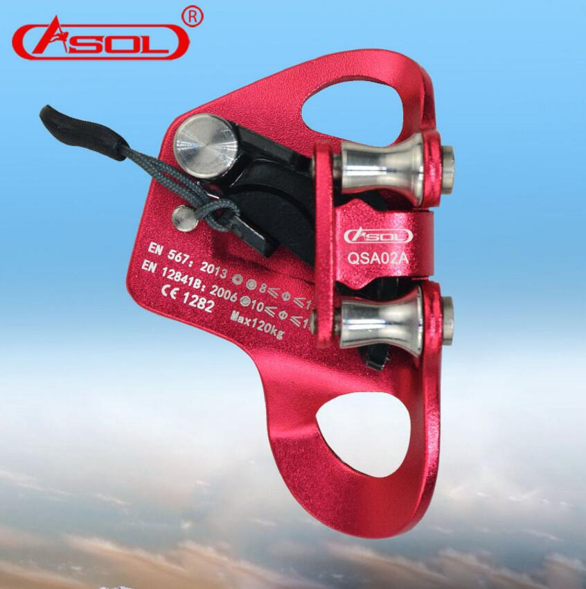 Brand ASOL Professional Outdoor Rock Climbing Thoracic ascenders Chest type ascenders rope-climbing caving tools gripper e0037 right hand ascender professional aerospace aluminum ascenders for outdoor mountaineering rock climbing