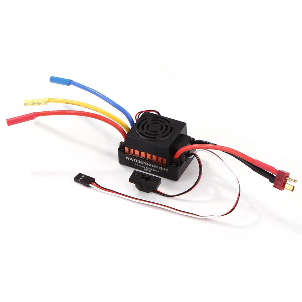 Image 5 - OCDAY 3650 5200KV 4 poles Sensorless Brushless Motor with 60A Electronic Speed Controller Combo Set for 1/10 RC Car and Truck-in Parts & Accessories from Toys & Hobbies