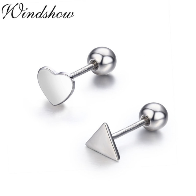 image s loading silver rhodium solitaire back plated sterling is stud itm screw cz earrings