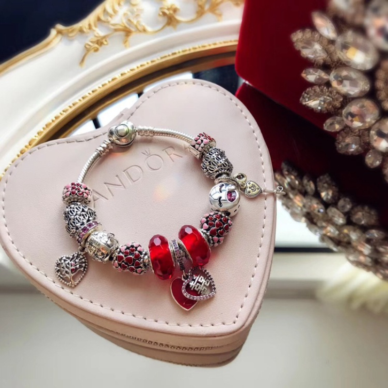925 Sterling Silver Bracelet Cute Carriage Rose Gold Red Love Variety Beads Fits  Charm Bracelet DIY Fem Jewelry Gift925 Sterling Silver Bracelet Cute Carriage Rose Gold Red Love Variety Beads Fits  Charm Bracelet DIY Fem Jewelry Gift