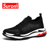 SUROM 2018 Sneakers Men Summer Lightweight Triple S Casual Shoes For Men's Luxury brand Designer Human Race Krasovki Comfortable