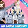 LEPIN 16008 Cinderella Princess Castle City set 4080pcs Model Building Block DIY Toys Birthday Christmas Gifts Compatible 71040