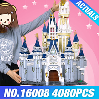 LEPIN 16008 Creator Cinderella Princess Castle City 4080pcs Model Building Minifigures Block Kid Toy Gift Compatible
