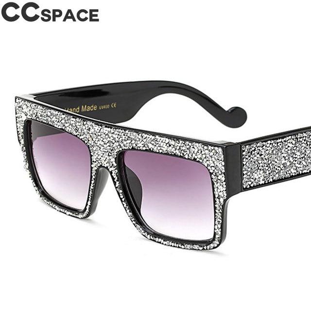d6f2397cacc Bling Diamond Sunglasses Men Women Luxury Shades UV400 Oversized Square  Glasses Fashion Oculos 45602