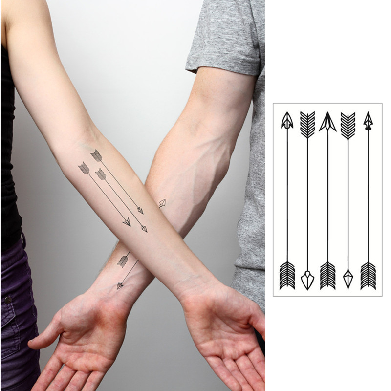 Tattoo Prices Small: Arrow Flash Tattoo Hand Sticker 10.5*6cm Small Waterproof