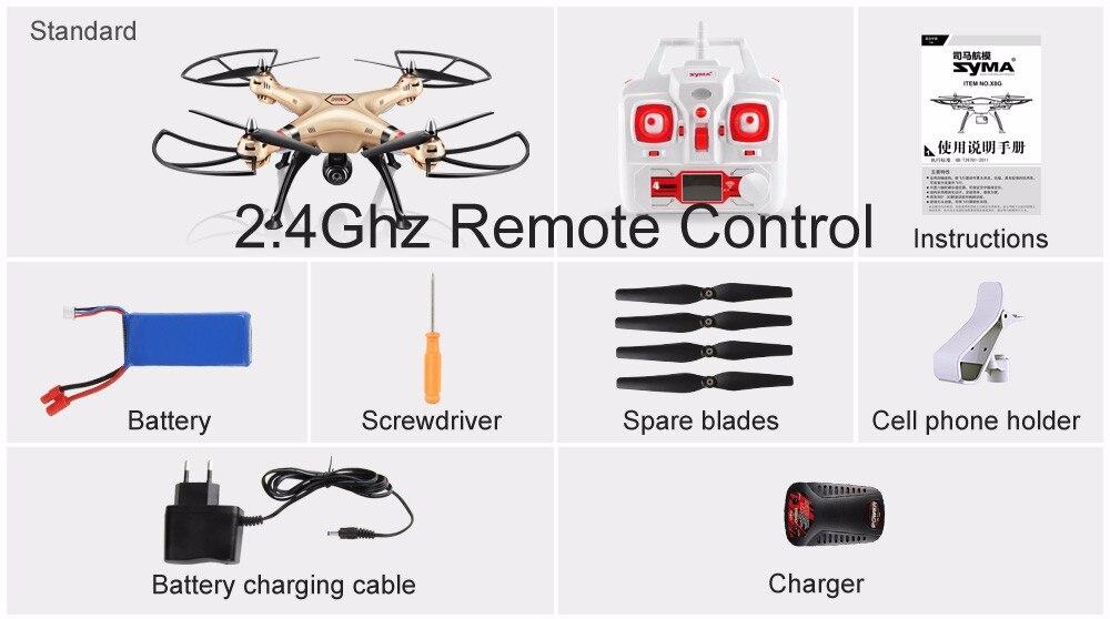 SYMA Professional UAV X8HG X8HW X8HC 2.4G 4CH RC Helicopter Drones 1080P 8MP HD Camera Quadcopter (SYMA X8C/X8W/ X8G Upgrade) 19