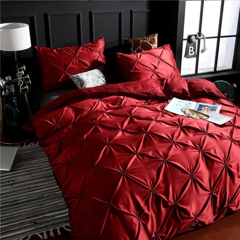 Image 2 - LOVINSUNSHINE Bedding Set Luxury US King Size Silk Duvet Cover Set Queen Bed Comforter Sets AC05#-in Bedding Sets from Home & Garden