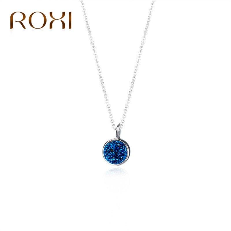 ROXI 925 Sterling Silber Schmuck Halsband Halskette Blauen Kristall ...