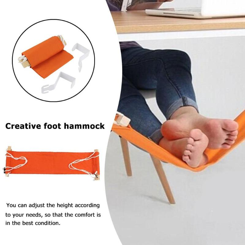 Creative Desk Feet Hammock Foot Chair Care Tool The Foot Hammock Outdoor Rest Cot Portable Office Foot Hammock Mini Feet Rest
