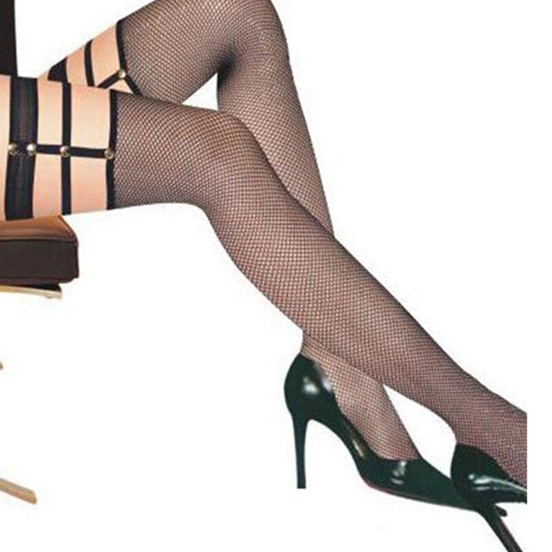 e7aea2713 Comeondear Kousen Lingerie Fence Net Fishnet Stockings With The Bandage  Over Keen Lange Sokken Black Women Sexy Stockings HK2131 Detail Show    Stockings ...