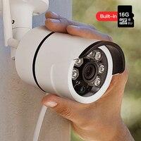 SDETER Outdoor Waterproof Wireless IP Camera Wifi Bullet Security Camera Built In 16G Memory Card CCTV