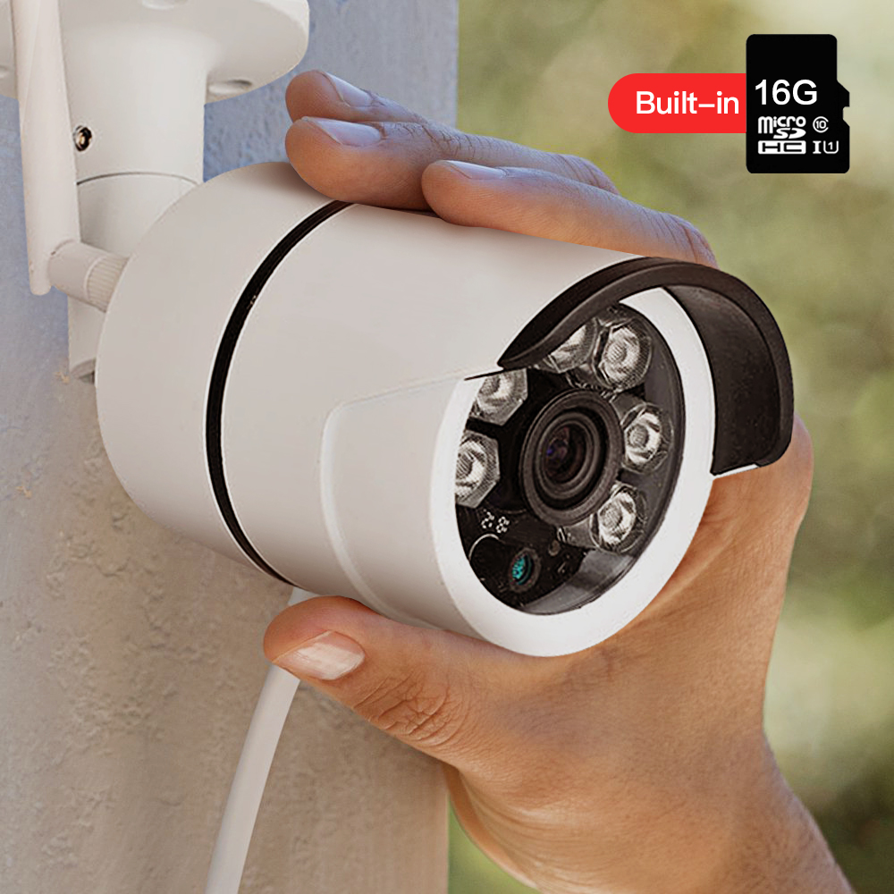 SDETER Outdoor Waterproof Wireless IP Camera-wifi Bullet Security Camera Built-in 16G Memory Card CCTV Camera IR Motion Detects wistino cctv camera metal housing outdoor use waterproof bullet casing for ip camera hot sale white color cover case