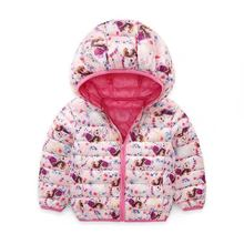 Children Cartoon ice girl hooded warm down jacket 2-7 Years Down coat Wholesale 2016