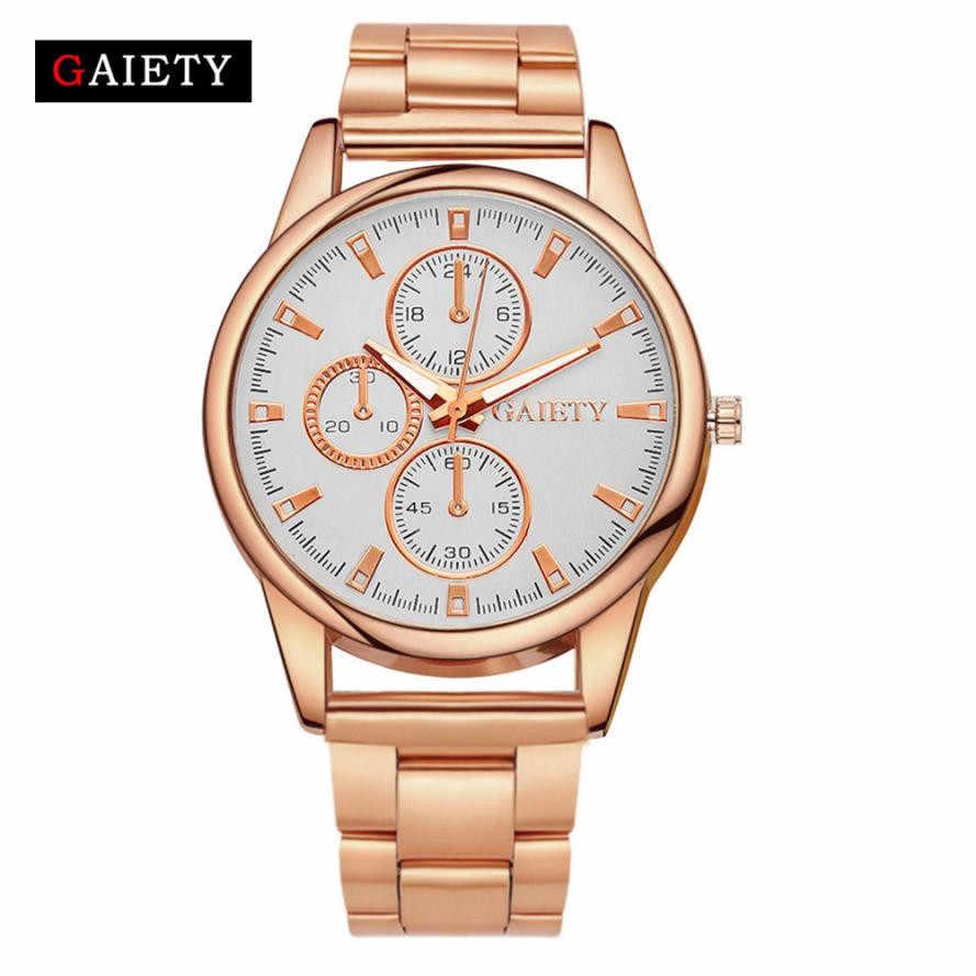 עליצות מותג גדול Dail אישה שעונים אופנה גבירותיי שמלה שעון נירוסטה זהב/רוז זהב/רסיס שעון נשים שעון 2018 #43