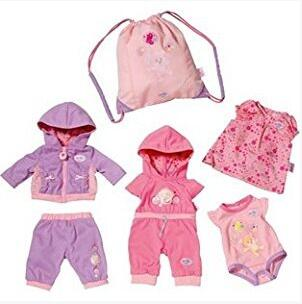 2018 NEW  4set+bag Doll Clothes coat Wear fit 43cm Baby Born zapf, Children best Birthday Gift toys girls Christmas gifts meired grid jumpsuit hat wear fit 43cm baby born zapf children best birthday gift only sell clothes