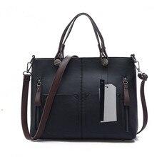 Brand Women Bag Women Shoulder Bags Vintage European PU Leather Women Handbag New Fashion Casual Solid Messenger Bag