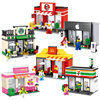 Mini Street Model Store Shop With KFC McDonald S Building Block Toys Compatible With Lego Hsanhe