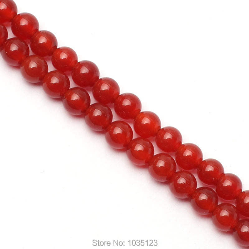 Free Shipping 4mm Smooth Natural Red Color Agates Round Shape Gems Loose Beads Strand 15 DIY Creative Jewellery Making w3400