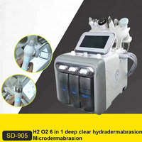 Multifunction Facial Machine H2 O2 Water Peel Treatment BIO RF Face Care Ultrasonic Skin Scrubber Deep Cleaner