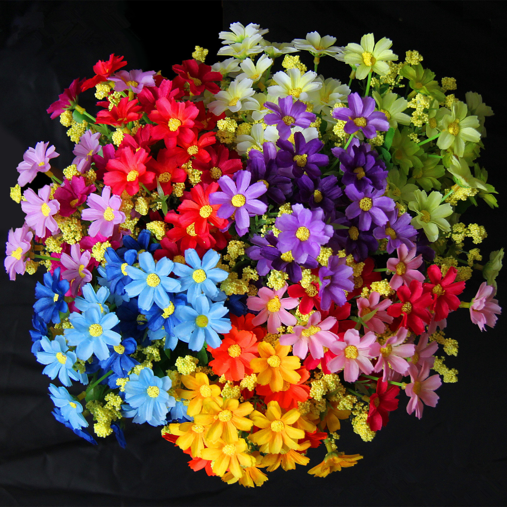 12 color dancing orchid flower simulation 28 head jump lanju 12 color dancing orchid flower simulation 28 head jump lanju artificial flowers daisy silk wedding decoration decoration plant in artificial dried flowers izmirmasajfo