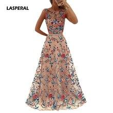 Květinové dlouhé šaty bez rukávů se síťkou