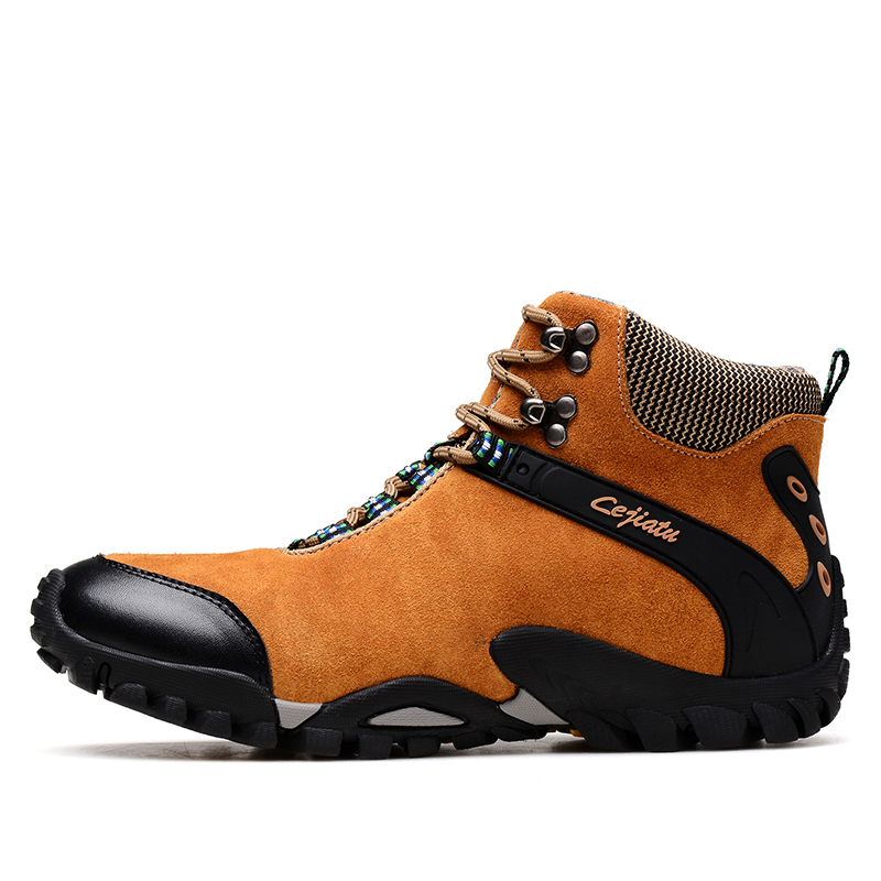 524e68446caa Waterproof Leather Mens Hiking Boots 2016 Winter Warm Outdoor Shoes  Trekking Men Boots Suede Outventure Botas zapatos hombre-in Hiking Shoes  from Sports ...