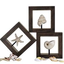 Морская звезда, фигурка раковины, настенная, Средиземноморский стиль, морские настенные украшения, изделия из смолы, аксессуары для украшения дома R1687