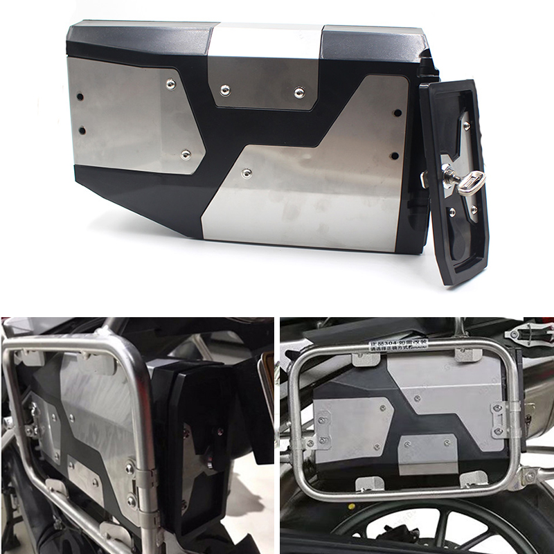 Decorative 4.2 liters Aluminum tool box For <font><b>BMW</b></font> <font><b>R1200</b></font> <font><b>GS</b></font> LC <font><b>2004</b></font>-on R 1200 <font><b>GS</b></font> ADV Adventure 2013-on R1250GS & Adventure 2019 image