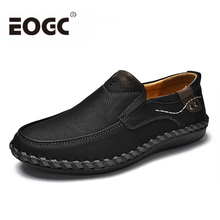 Spring/Autumn Men Loafers 2018 Comfortable Casual Shoes Quality Split Leather Flats Hot Sale Moccasins male