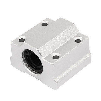 SCS8UU 8mm Inner Dia Linear Motion Ball Bearing Slide Unit Bushing Silver Tone sc8uu scs8uu 8mm slide unit block bearing steel linear motion ball bearing slide bushing shaft cnc router diy 3d printer parts
