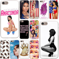 Nicki minaj hard case transparente para iphone 7 7 plus 6 6 s plus 5 5S se 5c 4 4S