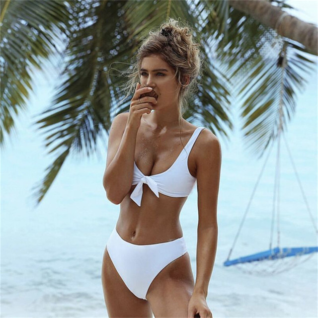 Bademode Bikinis 2018 Newest Women Swimwear Push Up Bandage Swimsuit Padded Beach Wear maillot de bain femme Tie Bottom Trikinis bikini
