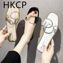 HKCP 2019 summer womens shoes new Korean version of the toe outside wear flat slippers versatile C483