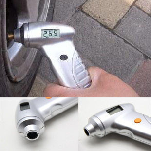Car portable led lcd tire pressure gauge tire pressure table pressure gauge piezomtric table