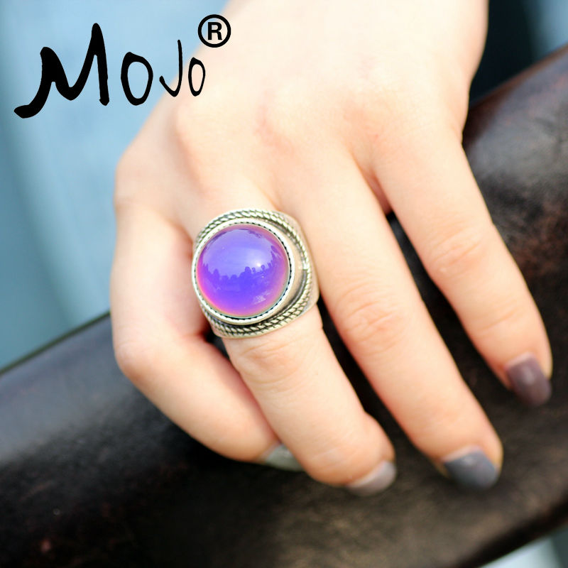 Mojo Vintage Bohemia Retro Color Change Mood Ring Emotion Feeling - Fashion Jewelry - Photo 4