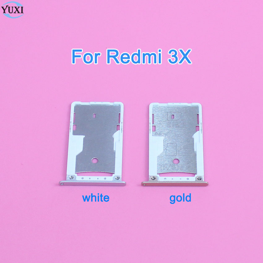 YuXi 1Piece Replacement part For Xiaomi Redmi 3X Sim Card Reader Tray Slot Holder Adapter.