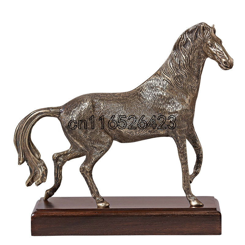 European style copper horse ornaments luxury decoration creative animal arts and crafts Home Furnishing