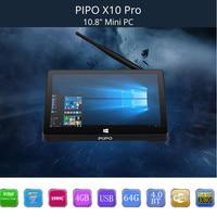 PiPo X10 Pro Mini PC de Doble SISTEMA OPERATIVO Android Windows 10 Mini PC Andriod intel Z8350 Quad Core TV Box 4G 64G WiFi Pipo X10Pro Set Top caja