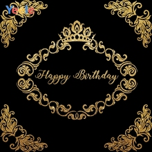 Yeele Birthday Party Photocall Gold Garland Crown Photography Backdrops Personalized Photographic Backgrounds For Photo Studio