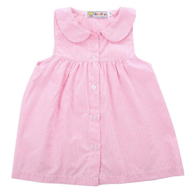 2016 New Chilren Dress top Baby Gap Toddler Girl Leopard Sleeveless Cotton  Dress Shirt Size 0 b9bfbefc34c1