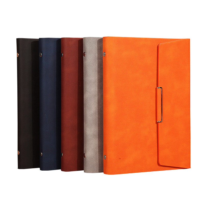 Three fold PU leather cover notebook A5/B5 loose-leaf notebook stationery books commercial notepad notebook season b5 18k26