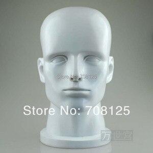 Белая голова манекена из стекловолокна для дисплея шляпы и парика