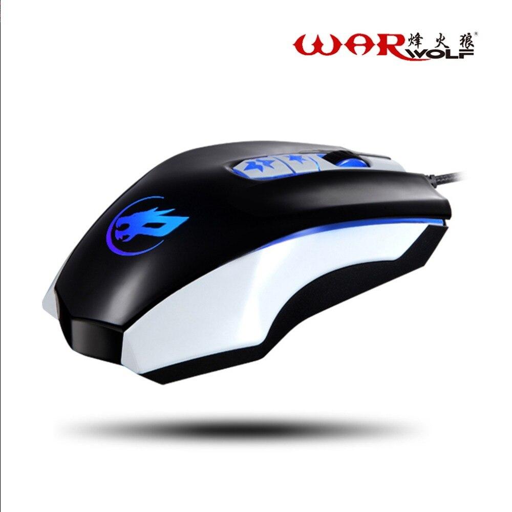Professionali 7 Pulsanti 3200 DPI Gaming Mouse USB Ottico con filo Computer Game Mouse per il COMPUTER Portatile per I Giochi