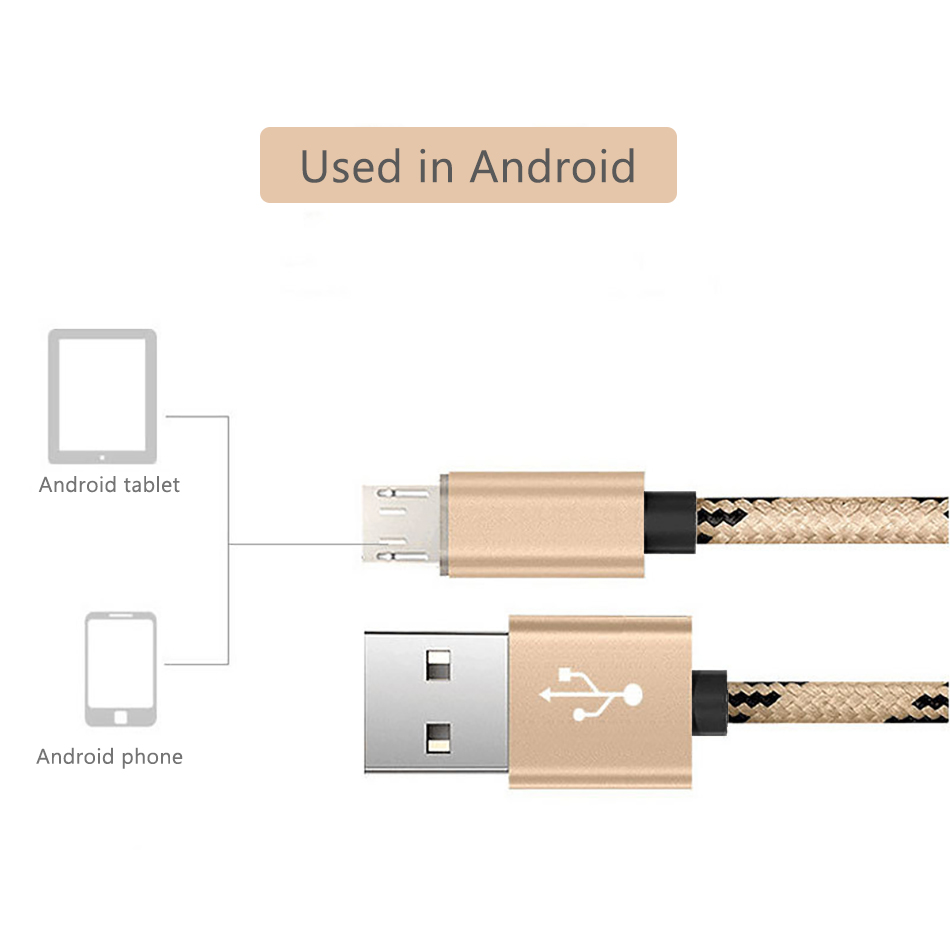 NOHON Micro USB Sync Charging Cable For Xiaomi Redmi 4X 4A For Samsung Galaxy S7 S6 For Huawei Android Phone Fast Charge Cables (5)