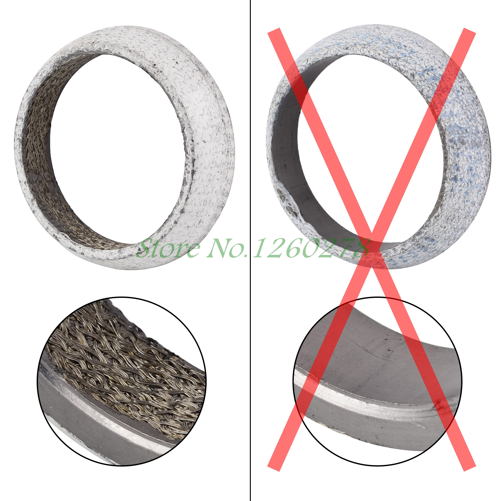 "2 5"" Exhaust Donut Collector Gasket For Acura Integra 1994 2001"