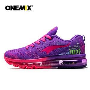 Image 2 - ONEMIX 여성 운동화 통기성 제직 운동화 에어 쿠션 2020 운동화 여성 테니스 신발 라이트 zapatos de mujer