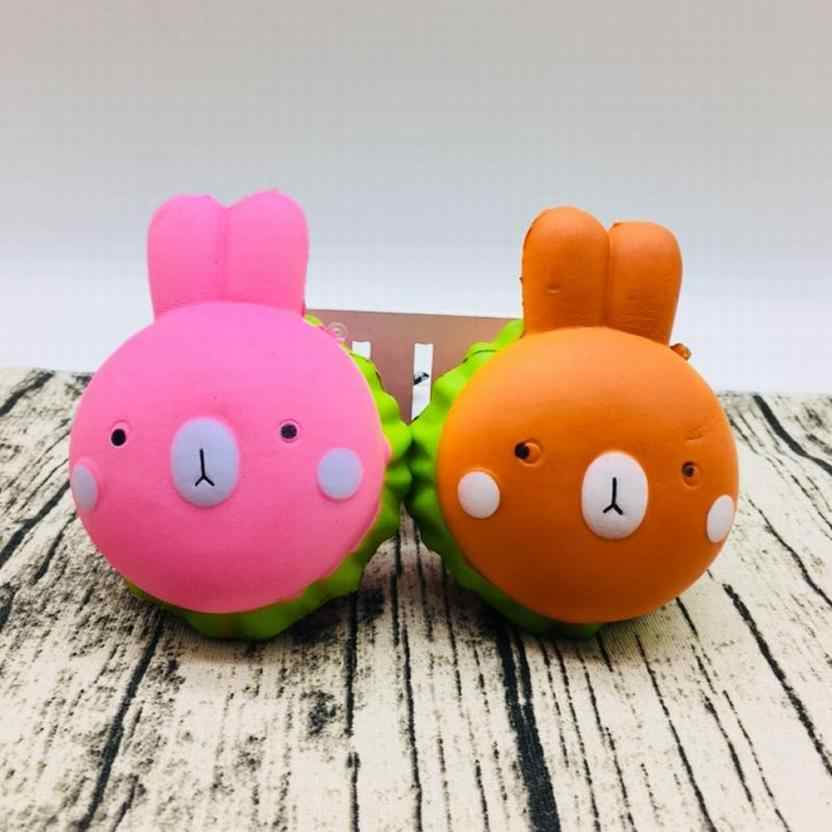 Squeeze Squishy Rabbit Squishy Charms Milk Bag Toy Slow Rising for Children Adults Relieves Stress Anxiety Cabinet Decor t312