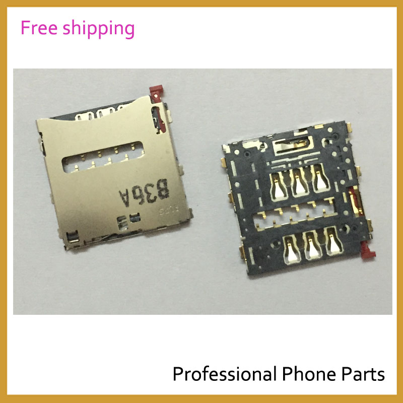 Original New SIM Card Reader Holder Reader Slot For Sony Xperia Z Ultra XL39h C6806 Mobile Phone Parts