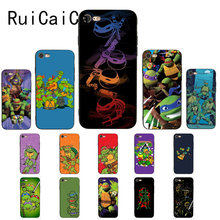 Teenage Mutant Ninja Turtles RuiCaiCa Soft black Phone Case para iPhone 5 5Sx 6 7 7plus 8 8Plus X XS MAX XR 10 Caso(China)