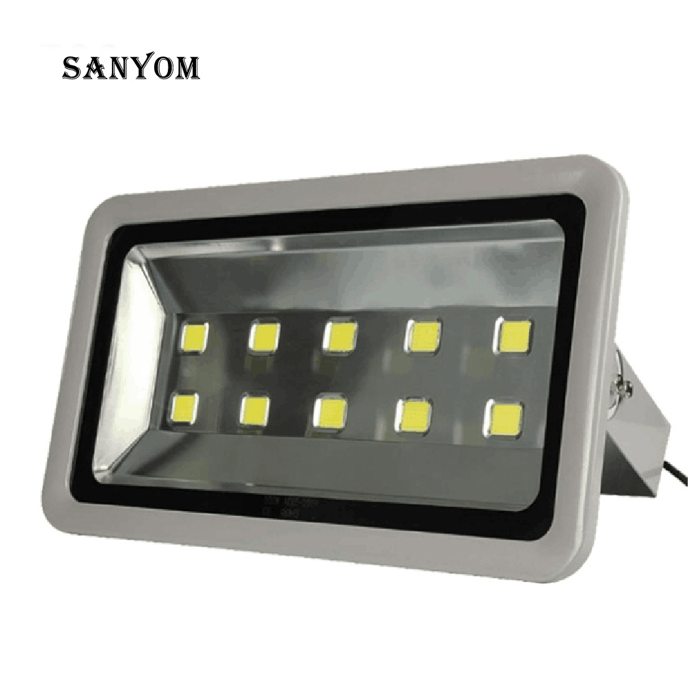 LED 500W Flood Light Construction Site Basketball Football Square Outdoor Wall Lighting Super Power Spotlight Outdoor Lighting